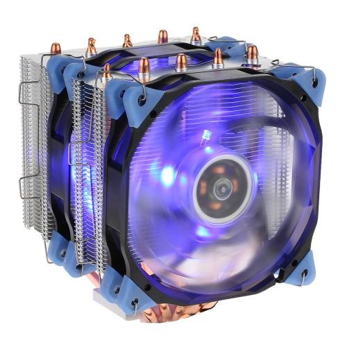 VTG 5 Heatpipe Radiador 3 pinos CPU Cooler Fan Cooling 5 Heatpipes contato direto com 120 milímetros Fan para Desktop Computer