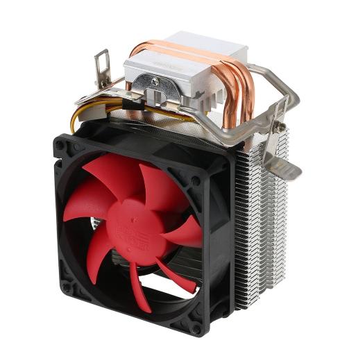 PCCOOLER 2 Heatpipes Radiator Quiet 3pin Mini CPU Cooler Ventilador do dissipador de calor Ventilador com ventilador de 80 mm para computador de mesa