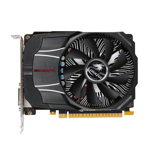 Colorido NVIDIA GeForce GTX1050Ti Mini OC 4G Placa gráfica 1316 / 1430MHz 7 Gbps GDDR5 128 bits PCI-E 3.0 com HDMI DP Porta DVI-D