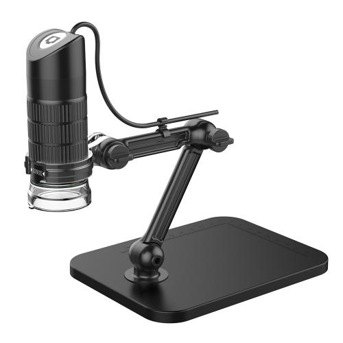 Portable USB2.0 Digital Microscope 1000X Electronic Endoscope 8 LED 2 Million Pixels Practic Magnifier Microscope Camera Black