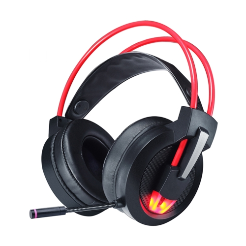 Zestaw słuchawkowy stereo 7.1 Surround Sound USB z przewodowym nadkrywaniem mikrofonu z lampą LED