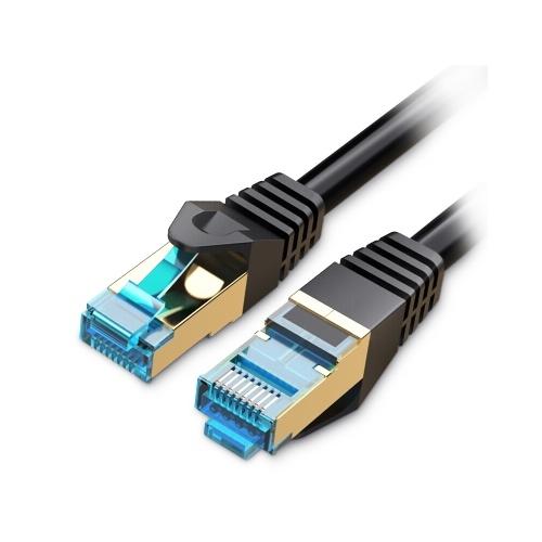 Vvention Cat 7イーサネットケーブルギガビット高速フラットネットワークケーブルRJ45デュアルシールドケーブルホームビジネス用15M
