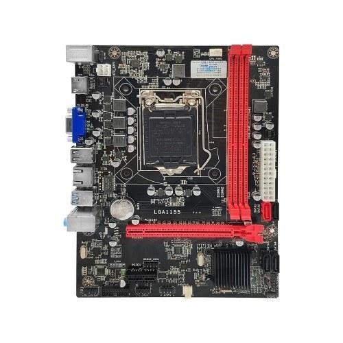 Scheda madre Jingsha B75 M-ATX LGA1155 DDR3 Mainboard CPU i5 3470 Core