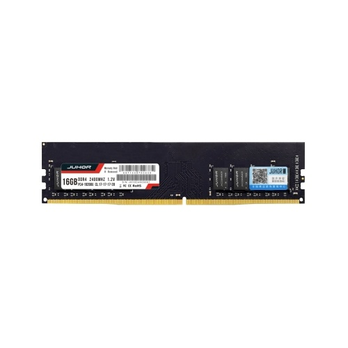 JUHOR DDR4 16GB 2400MHz 1.2V Desktop PC Memory Bank PC Memory RAM Low Power Consumption Wide Compatibility