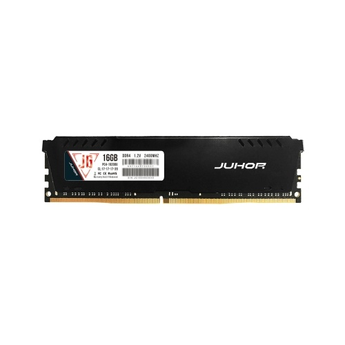 JUHOR DDR4 16GB 2400MHz 1.2V Desktop PC Memory Bank PC Memory RAM Low Power Consumption Wide Compatibility with Heat Sink