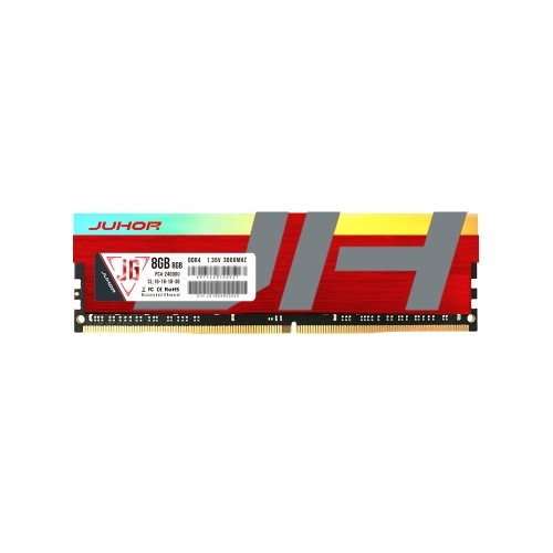 JUHOR DDR4 8GB 3000MHz 1.35V Desktop PC Memory Bank PC Memory RAM Low Power Consumption Wide Compatibility with RGB Lights