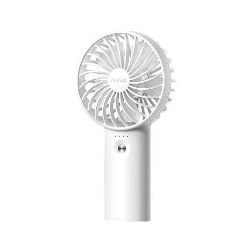 Yoobao Y-F3 Ventilatore USB Mini ventilatore portatile ricaricabile Desktop Ventilatori a 3 livelli Ventilatore elettrico Bianco 3000mAh