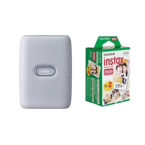 Fujifilm Portable Phone Photo Printer  +20 Sheets Mini Instant White Edge Films