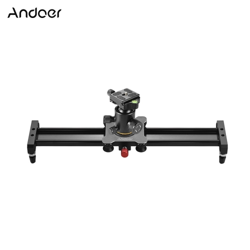 Andoer 40cm / 15.7inch alliage d'aluminium caméra curseur coulissant stabilisateur ferroviaire avec rotule plaque de libération rapide