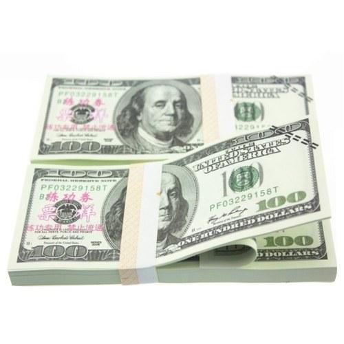 20Pcs/Pack USD Paper Bar Atmosphere Props Money $100(1)