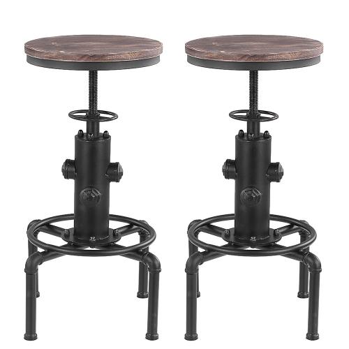 Tabouret de bar style industriel assise en bois hauteur - Tabouret de bar style industriel ...