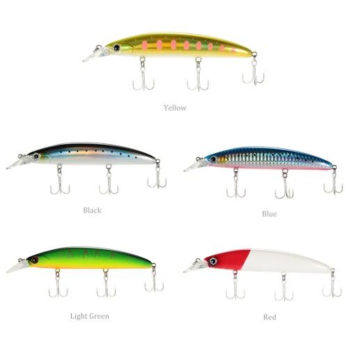 Trulinoya 5pcs 11cm 3D schwimmende Minnow Fischen lockt Köder Haken Bass Tackle Sinking