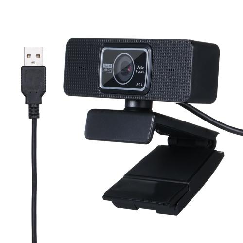 Caméra Web USB à mise au point automatique 1080P Microphone à réduction de bruit intégré pour ordinateur de bureau