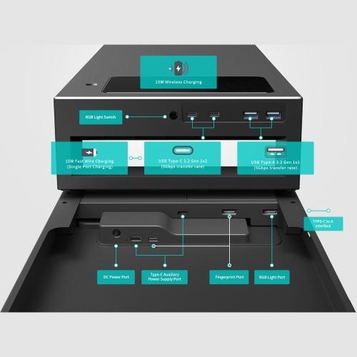 LANQ PC Dock Pro Intelligent Monitor Stand Multifunctional Desktop Laptop Holder Bracket