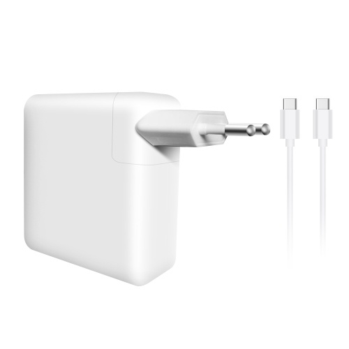 Adattatore di alimentazione per laptop di tipo C da 61 W Adattatore CA ad alta efficienza Adattatore di alimentazione USB-C con cavo di tipo C.