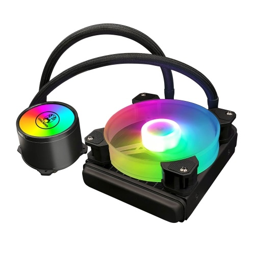 COOL MOON cold moon 120 One-piece PC Case Water Cooler with RGB 120mm Quiet Fan CPU Liquid Radiator for LGA775/115X/AM4/AM3/FM2