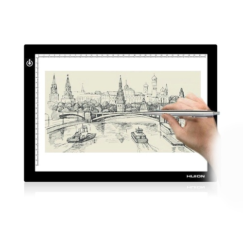 Huion L4S Ultra-fino Protable LED Light Pad Painel acrílico LED Drawing Light Pad alimentado por USB com brilho ajustável