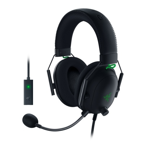 Razer BlackShark V2 Wired Gaming Headset with USB Sound Card Razer TriForce 50mm Driver HyperClear Noise Reduction Microphone