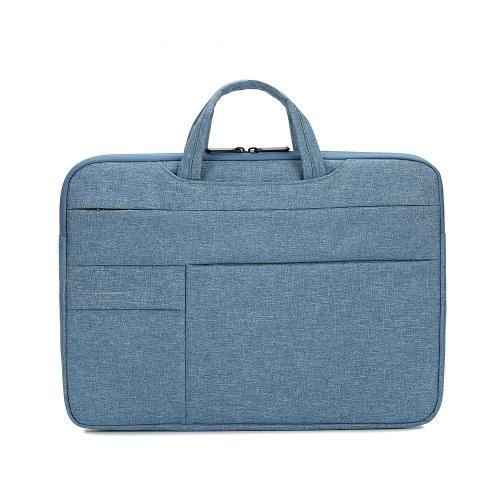 Portable Laptop Bag 13.3 inch Laptop Case Waterproof Nylon Laptop Bag Briefcase Leisure Business Handbag Blue