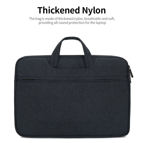Multifunctional Laptop Bag 13.3 inch Laptop Case Waterproof Nylon Laptop Bag Briefcase Leisure Business Handbag Black