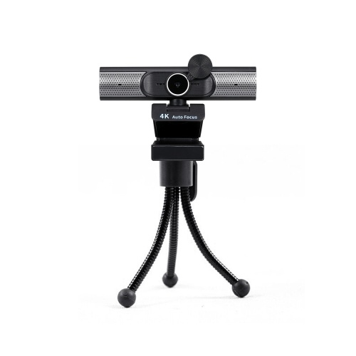 4K Webcam AF Autofocus Webcam Built-in Microphone Plug and Play with Privacy Cover Multi Stage Built-in Speakers Black