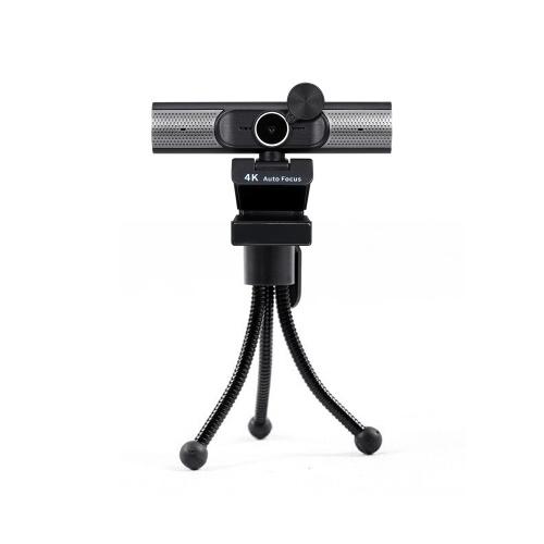 4K Webcam AF Autofokus Webcam Eingebautes Mikrofon Plug and Play mit Datenschutzabdeckung Mehrstufige eingebaute Lautsprecher Schwarz