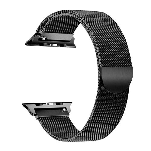 Austauschbares Edelstahlarmband Milanese Magnetschnallenband Kompatibel mit Apple Watch 2/3/4/5/6 / se 38 / 40mm Schwarz