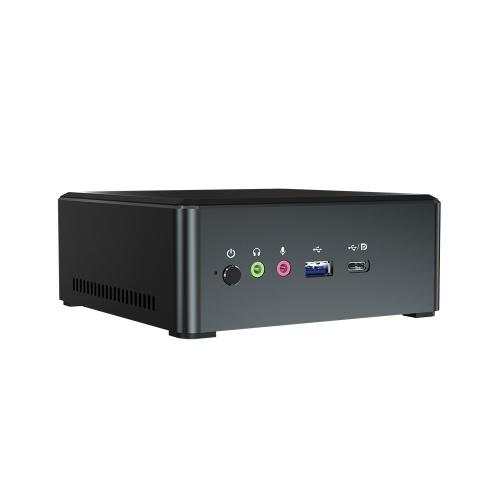 Металлический мини-ПК T-bao MN27 с процессором AMD Ryzen 7 2700U 4 ГБ ОЗУ 128 ГБ M.2 NVNE SSD Графика Radeon Vega 10 для домашнего офиса EU Plug