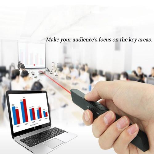 2.4Ghz Wireless PowerPoint Presenter Remote PPT Control Pointer Clicker Presentation Pen with USB Receiver