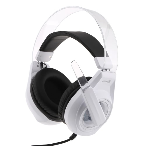 SENICC G241 Over-ear Professional Stereo Headset Esport Gaming Headphone Earphone USB 3.5mm with Microphone LED Light Volume Control for PC/Tablet/Laptop