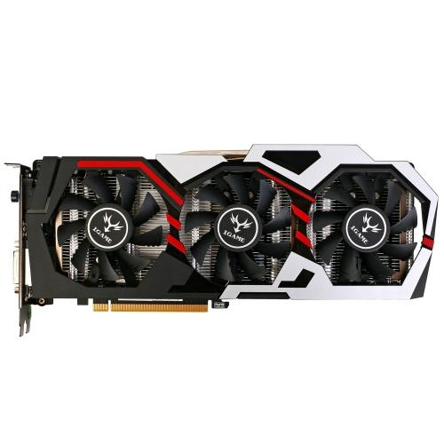 Kolorowe karty graficzne NVIDIA GeForce GTX iGame 1070 8 GB 256-bitowe karty graficzne GDDR5 PCI-E X16 3.0 VR Ready Karta graficzna DVI + HDMI + 3 * DP Port z trzema wentylatorami