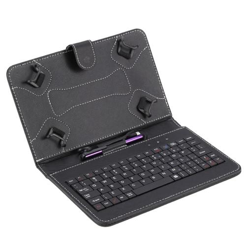 Supporto pieghevole del basamento della copertura della cassa del cuoio dell'unità di elaborazione di Folio pieghevole con la penna dello stilo della tastiera