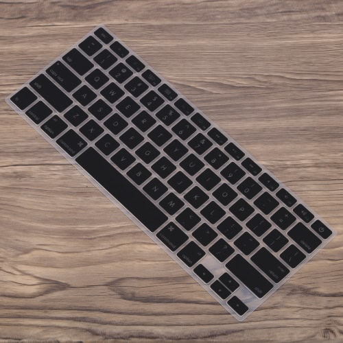 Silicone Anti-pó ultra-fino teclado do portátil Film tampa da etiqueta protetora da pele US layout para o MacBook Air de 11,6