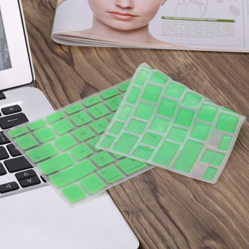 """Silicone Anti-dust Ultra-thin Laptop Keyboard Protective Film Cover Sticker Skin US Layout for MacBook Air 11.6"""" C3602GR-13"""
