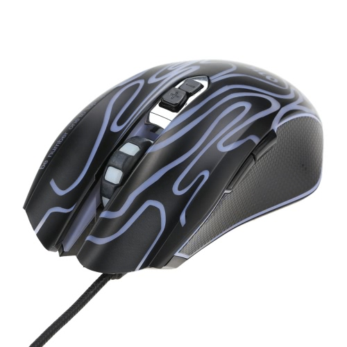ONF UP Ergonomic Optical Professional Esport Gaming Mouse Mice Adjustable 4200 DPI Breathing LED Light 7 Buttons USB Wired for Mac Laptop PC Computer