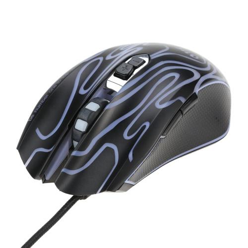 ONF UP Ergonomic Optical Professional Esport Gaming Mouse Mice ajustável 4200 DPI respiração LED 7 botões USB com fios para Mac Laptop PC Computer