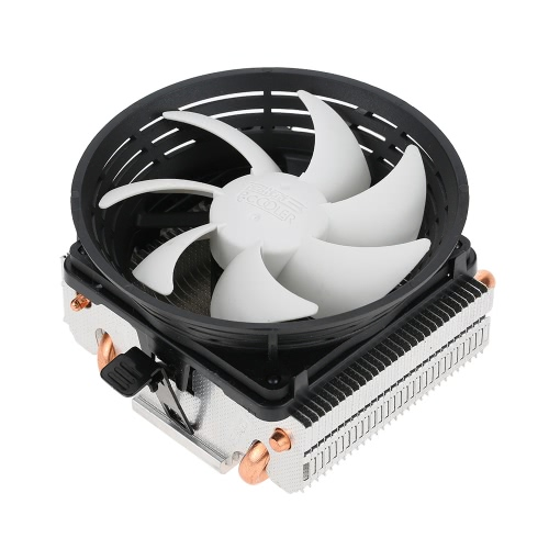 PCCOOLER 2 Heatpipes Radiator Quiet 3pin Mini CPU Cooler Ventilador do dissipador de calor Ventilador com ventilador de 100 mm para computador de mesa