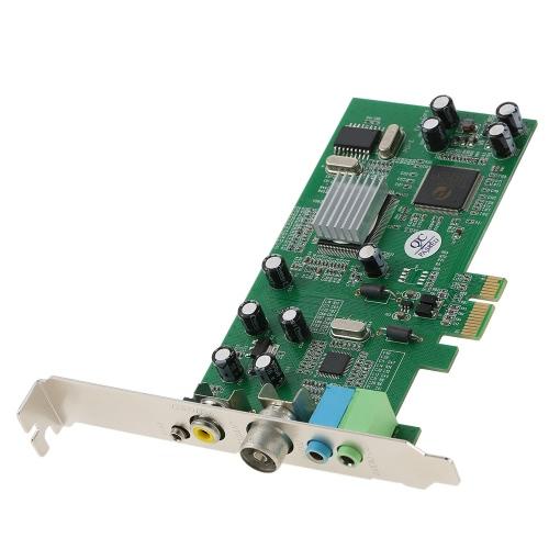 Cartão de sintonizador de TV interno PCI-E Vídeo MPEG Gravador de captura de DVR PAL BG PAL I NTSC SECAM PC PCI-E Remote Card Remote