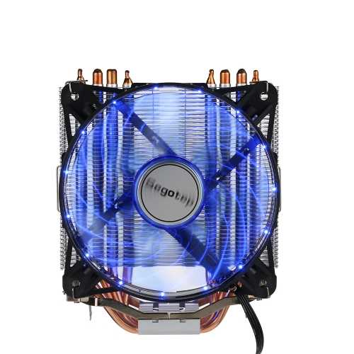 4 Heatpipes Segotep T4 Frozen Tower System chłodzenia CPU Cooler LED Lights dla Intel / AMD