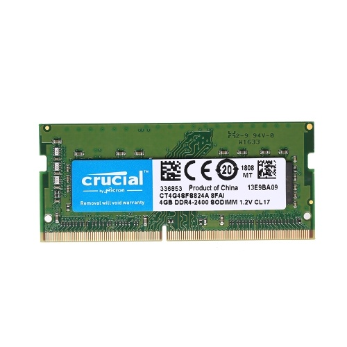 Crucial 4GB DDR4 2400MT / s PC4-19200 CL17 1.2V mémoire SODIMM 260 broches pour ordinateur portable CT4G4SFS824A