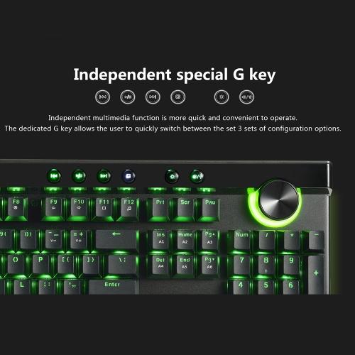 Ajazz AK45 111 Keys RGB Mechanical Keyboard Box Black/Brown/Red/White Switches Ergonomic Arc With Dual-mode Knob and Wrist Rest