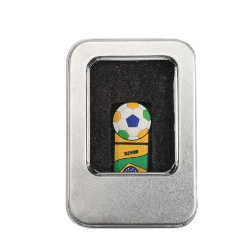 Fußball-Muster 32GB USB 2.0 Flash-Speicher U-Disk für Computer