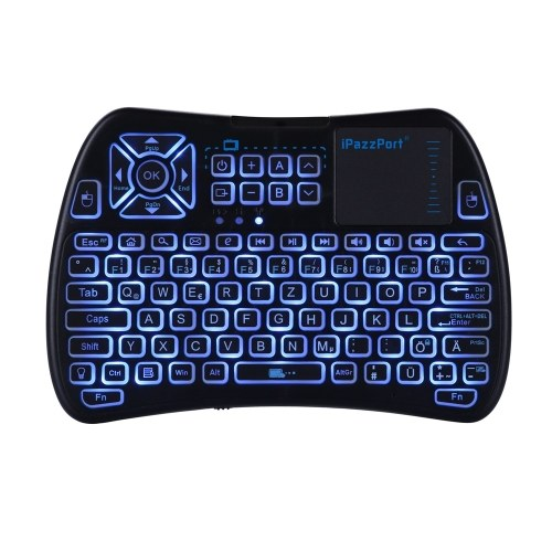iPazzPort KP81061 Backlit Mini Wireless Keyboard 2.4G Air Mouse  with Touchpad