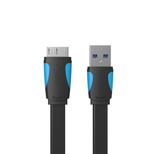 VENTION USB Typ A Stecker auf Micro B Kabelersatz für externe Festplatte Samsung S5 und Note3 0,25 m schwarz