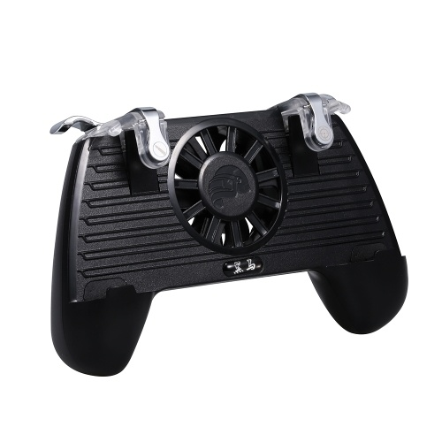 Mobile Game Controller Gaming Griff Gamepad mit Power Bank Lüfter für PUBG 2200mAh
