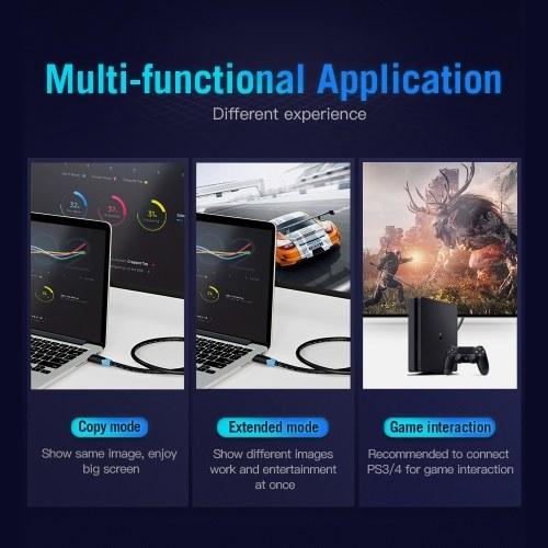 Vention HDMI-кабель 4K Цифровой HD-кабель 3D-видеокабель Кабель для передачи данных 10,2 Гбит / с 18 Гбит / с Проектор Ноутбук Телевизор ЖК-монитор Кабель ТВ Кабель Черный 0,5 м фото