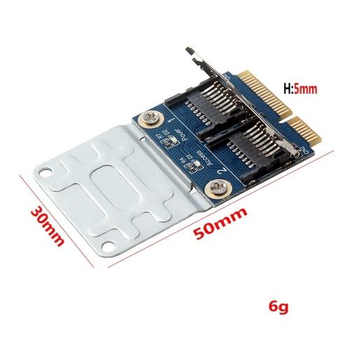 Dual Micro SD TF в Mini PCI Express Карта памяти Читатель Адаптер Конвертер Карта для ноутбука