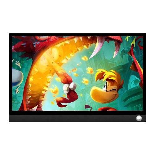 Monitor portatile Schermo LED 12,5 '' HD 1080P Schermo di espansione per Switch / PS4 / PC / Laptop (con touch screen / batteria spina EU)