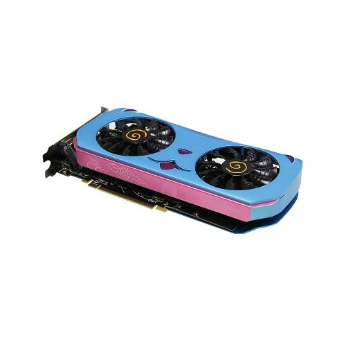 Yeston RX580 2048SP-8GD5 MA Placa gráfica Polaris 20 8GB / 256bit / GDDR5 1284MHz GPU de baixo consumo de energia Luz de respiração