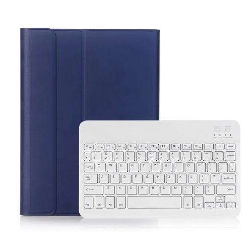 Custodia per tastiera wireless BT3.0 Custodia protettiva per iPad Tastiera portatile per iPad Pro 10.5 / iPad Air3 10.5 / iPad 10.2 (2019) (Blu-Bianco)